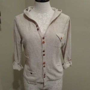 Anthropologie Cartonnier hooded cardigan sweater